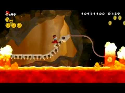 New Super Mario Bros Wii World 8 7 All Star Coins Youtube