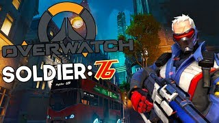 Winning an Overwatch push w/Soldier 76! (Overwatch Gameplay) (PS4)