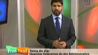 Baixar PROVA FINAL - Questões Relevantes do Ato Administrativo - Eduardo Souza
