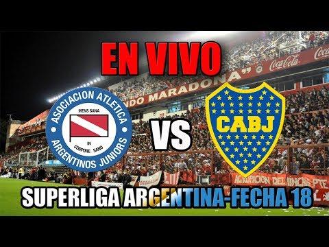ARGENTINOS JRS. VS BOCA-SUPERLIGA ARGENTINA-FECHA 18[RADIO]