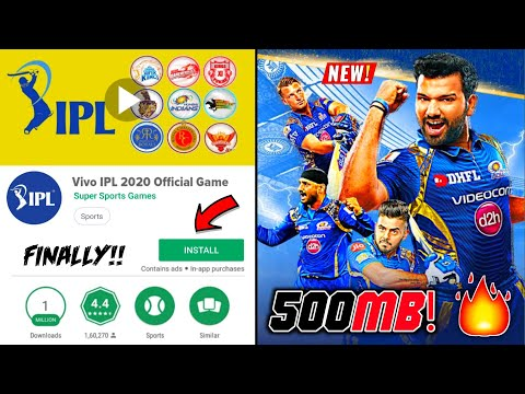 [500MB+] Best 2020 VIVO IPL Cricket On Android | With IPL Auction | REALISTIC Graphics | Hindi