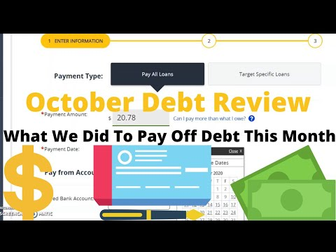October Debt Review | Debt Payoff Update | What We Did To Pay Off Debt This Month