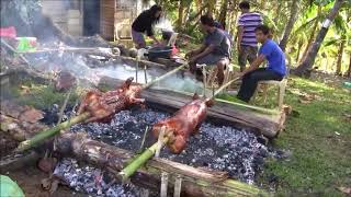 HOW TO ROASTED DELICIOUS PIG IN HOME FILIPINO BINUKID STYLE COOKING
