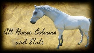 Red Dead Redemption 2 All Horse Colours / All Horse Stats