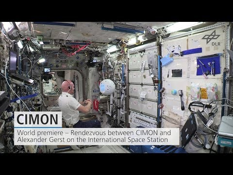 Trailer: World premiere – CIMON and Alexander Gerst on the ISS