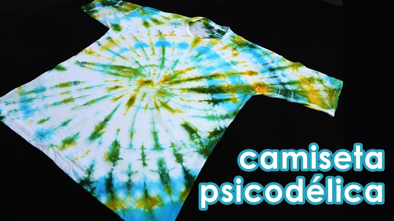 b6c42bc5f7 Camiseta psicodélica (como fazer tie-dye) (artesanato) - YouTube