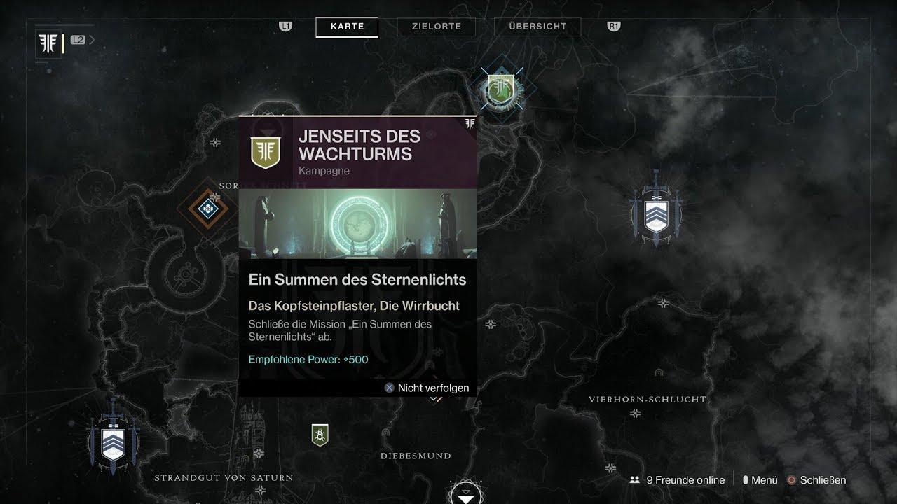 Destiny 2 Raid Karte.Destiny 2 441 Jenseits Des Wachturms Ein Summen Des Sternenlichts Teil 3 Hd Ps4