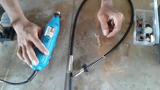 Cara memasang cable flexible mini gerinda