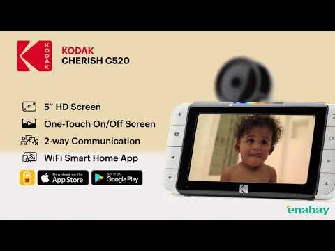 柯達 Kodak CHERISH 嬰兒視頻監控 [三倍數碼變焦,雙向對話] C520