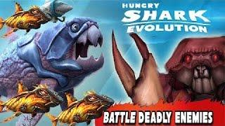 Hungry SHARK EVOLUTION// PAPAIZÃO VS CARANGUEJO GIGANTE