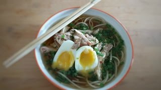 Asian Noodle Soup - Easy Chicken Noodle Soup - Homemade Chicken Noodle Soup