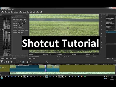 Shotcut - Tutorial part 2 - cutting, merging, adding audio