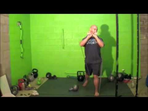 resistance-band-training--overhead-band-press