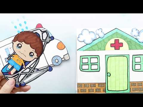 NEW QUIET BOOK HOSPITAL W/DOCTOR & MEDICAL KIT NEW DOLLHOUSE FOR KIDS|Hospital paperdoll playing