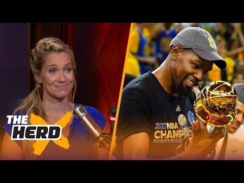 Kevin Durant mentions LeBron in tweets to Lil Dicky  - Kristine and Colin react | THE HERD