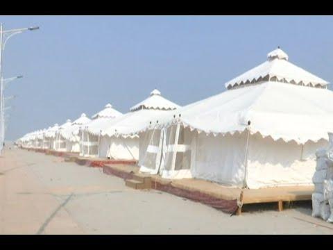 Prayagraj decked up with luxury tents ahead of Ardh Kumbh Mela