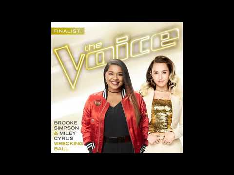 Brooke Simpson & Miley Cyrus - Wrecking Ball (The Voice Performance - Studio Version) [The Voice 13]