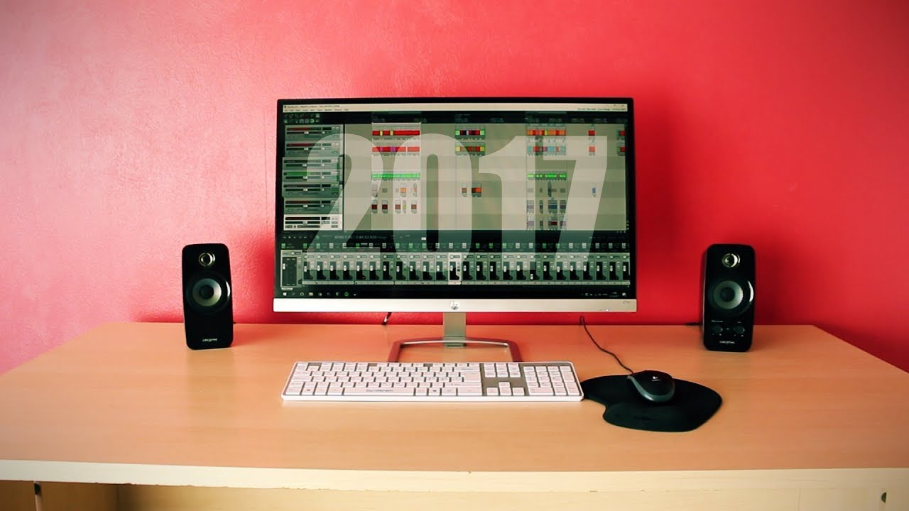Minimalist Desk Setup Home Recording Studio
