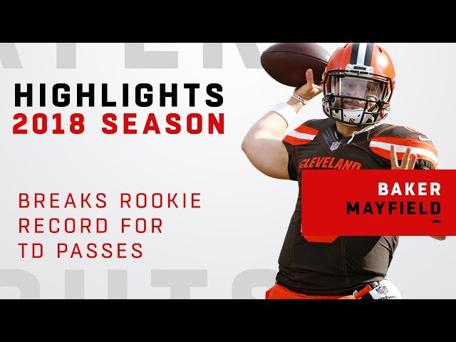 Baker Mayfield Breaks Rookie Record for TD Passes!
