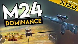CRATE-ONLY SNIPER: M24 - 21 KILL DOMINANCE - PUBG Mobile