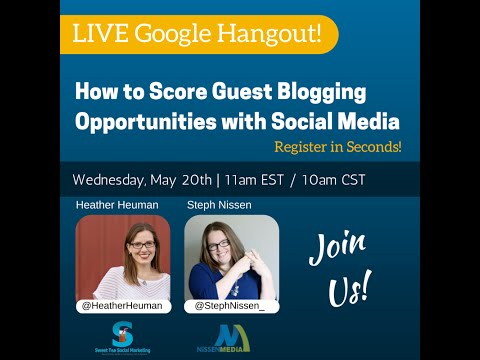 How to Score Guest Blogging Opportunities with Social Media