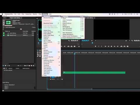 How to edit audio in Adobe Premiere Pro CC