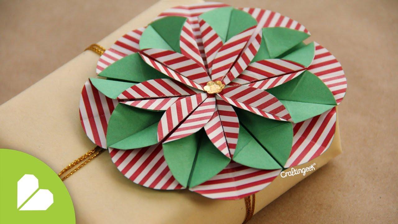 Flor dahlia deco regalo y tarjetas de navidad youtube - Tarjeta de navidad manualidades ...