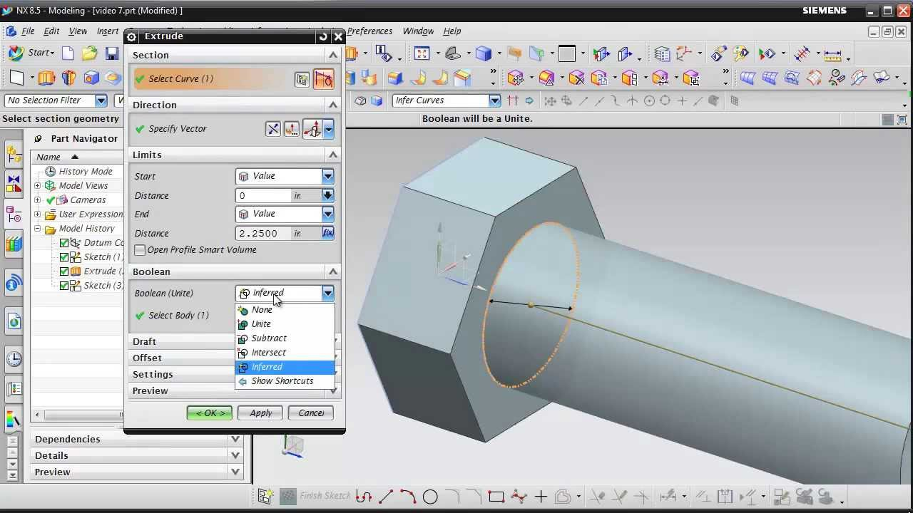 Nx8 5 Tutorial Video 8 Youtube