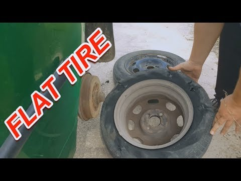 Driving with a flat tire