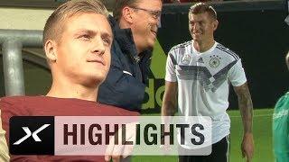 Das ist Liebe: Toni Kroos schießt Bruder Felix ab | DFB-Team | UEFA Nations League