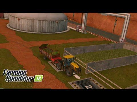 Fs18 farming simulator 18 - biyogaz tesisine çimen satmak / sell grass to biogas plant