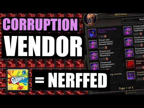 😮Blizzard Listened!? CORRUPTION VENDOR + GUSHING WOUNDS NERF! - BFA Update