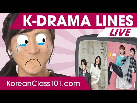 Top 10 Most Common K-Drama Lines 🔴 | Learn Korean LIVE @1pm KST on Thu.