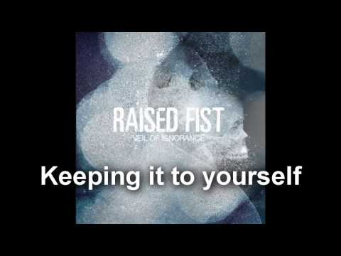 Raised fist keeping it to yourself