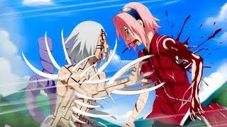 Сакура пожертвовала собой ради Наруто и Саске в аниме Наруто