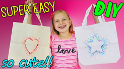 DIY Canvas Tote Bag - SUPER Easy Paint Craft
