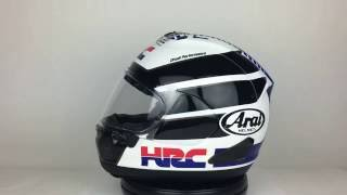 arai corsair x hrc limited edition helmet 360 view