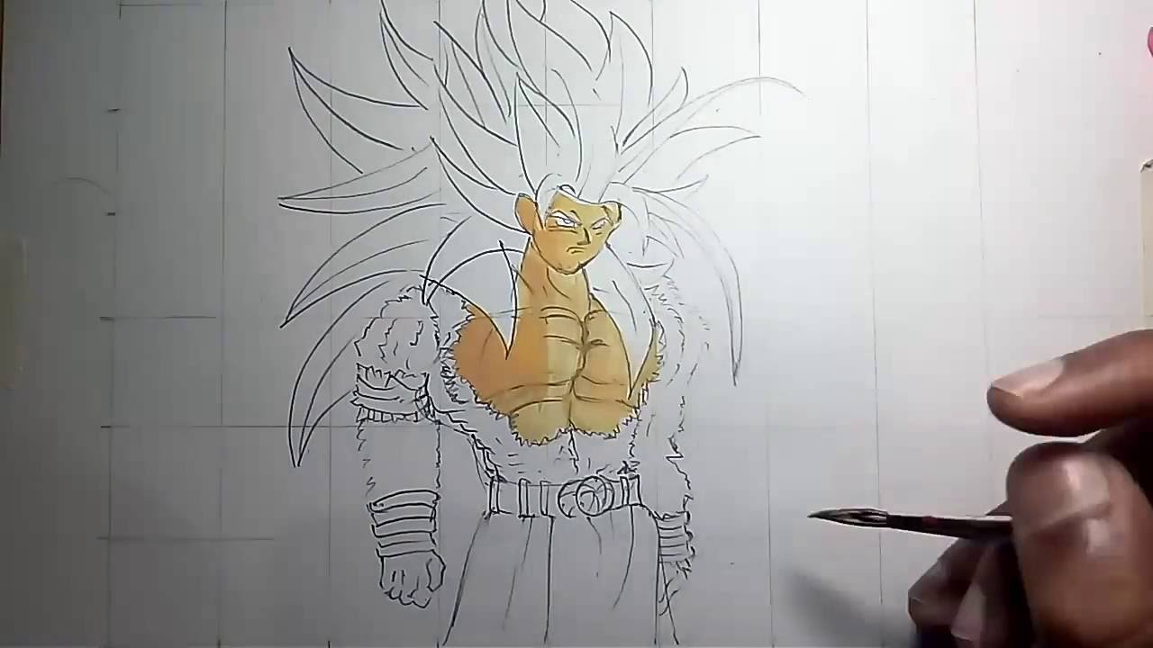 How To Draw Goku Super Saiyan 5 Youtube