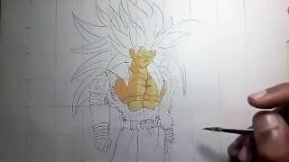 How to draw Goku super saiyan 5