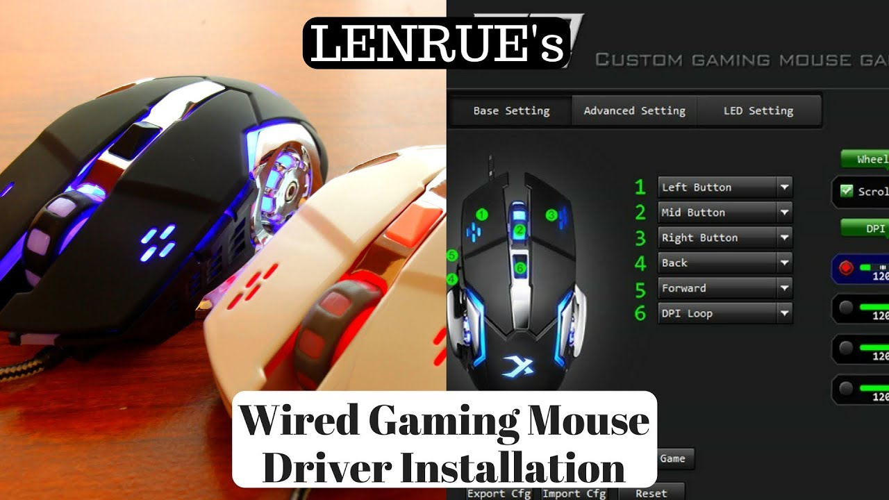 How to Install the Driver for LENRUE's Wired Gaming Mouse