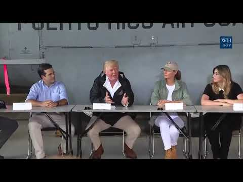 President Trump visits Puerto Rico to survey recovery efforts