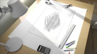 On The Drawing Board An Architects Drafting Table In 3d Building Design
