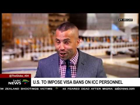 U.S. to impose Visa bans on ICC personnel