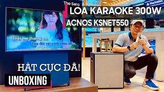 LOA KARAOKE DI ĐỘNG 300W ACNOS KSNET550   ACNOS KSNET550 UNBOXING
