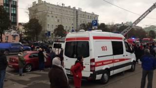Пожар в Москве на Марксистской улице