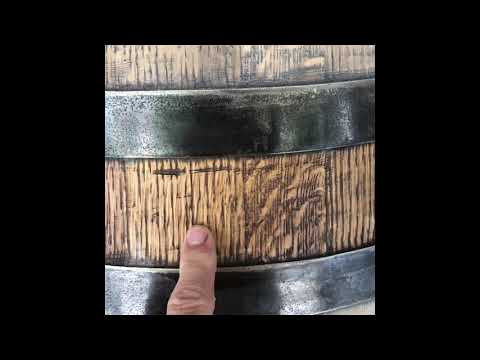 How to recondition a wine barrel- part 4 prepping for the stain