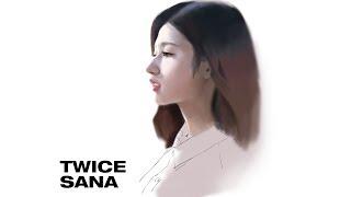 케이팝 아이돌 페인팅 트와이스 사나 디지털 페인팅 팬아트  K POP PAINTING TWICE SANA FANART part.1