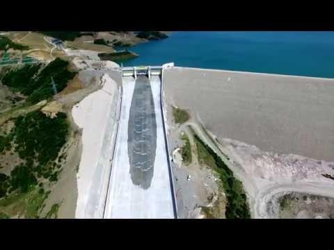 Opening of the spillway gate - Banja Dam