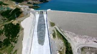 Opening of the spillway gate - Banja Dam