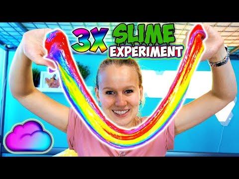 KATHIS SLIME EXPERIMENT 3x Regenbogen Schleim selber machen Wie macht man coolen Rainbow Slime?